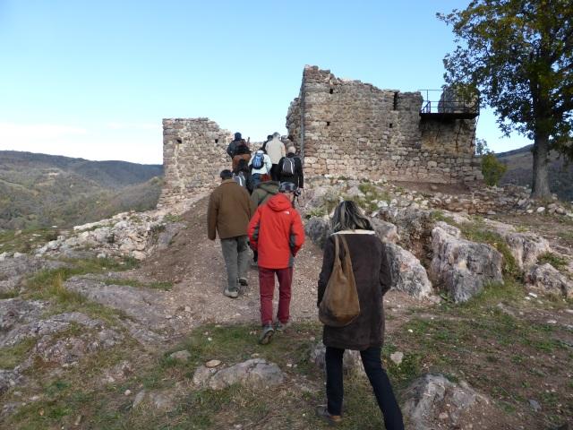 Visita al castell de Rocabruna