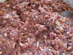 Barreja de carn i altres ingredients per al patè