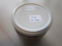 El pot acabat i etiquetat